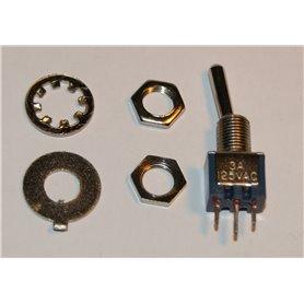 LN SMTS-102 Vippomkopplare sub-miniatyr 1-pol on-on lödöron