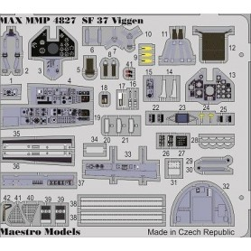 Maestro Models P4827 SAAB SF37 Viggen (fotonos) cockpit detail set (TAR)