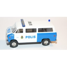 "AHM AH-424 Chevrolet Van SDA 102 ""Polis Göteborg"" med blålysen"