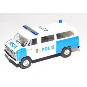"""AHM AH-425 Chevrolet Van SDA 102 """"Polis Malmö"""" med blålysen"""
