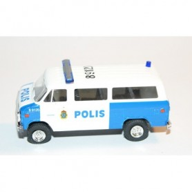 "AHM AH-426 Chevrolet Van SDA 102 ""Polis Stockholm"" med blålysen"