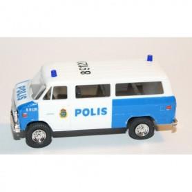 "AHM AH-427 Chevrolet Van SDA 102 ""Polis Stockholm"" med blålysen"