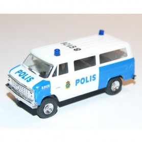 "AHM AH-428 Chevrolet Van SDA 102 ""Polis Göteborg"" med blålysen"