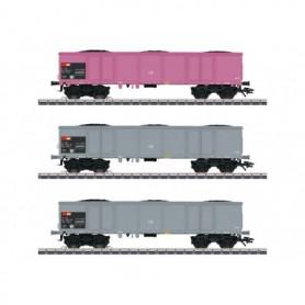 Märklin 46909 Vagnsset med 3 st gondolavagnar Eaos typ SBB/CFF/FFS