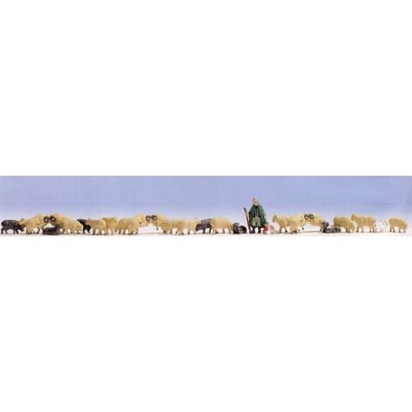 Noch 16160 Fåraherde med får, storpack