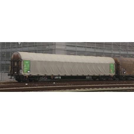 """B Models 45637AC Set med 2 vagnar typ Rils """"Green Cargo"""" med gul ratt"""
