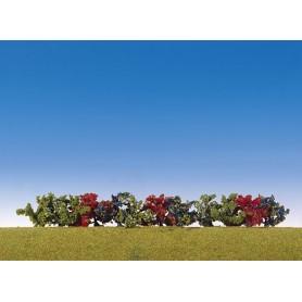 Faller 181474 Buskar, 12 st, i färgglada färger, ca 4 cm hög