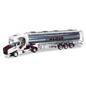 """Herpa 304870 Scania Hauber chrome tank semitrailer """"Willi Wewer"""""""