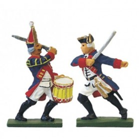 "Prince August 62 Battle of Rossbach Prussian ""Officer & Drummer"""