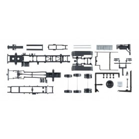 Herpa 084260 Chassis for tractor MAN TGX Euro 6 with roll-off kinematics Content: 2 pcs