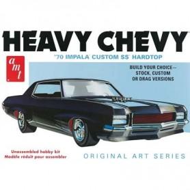 """AMT 895 Chevrolet Impala 1970 Custom SS Hardtop """"Heavy Chevy"""""""