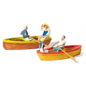 Preiser 10686 Roddbåtar, 2 st