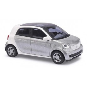 "Busch 49553 Smart Forfour 2014 ""CMD"", silvermetallic"