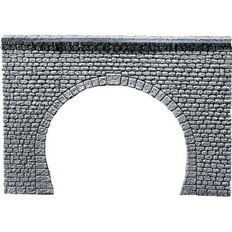 """Faller 170881 Tunnelportal, dubbelsspår, """"Natural stone ashlars"""", mått 230 x 145 x 10 mm"""