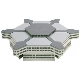 Herpa 519663 Airport building: Hexagonal departure hall