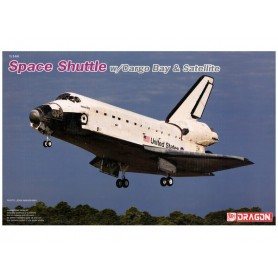 Dragon 11004 Space Shuttle with Cargo Bay & Satellite