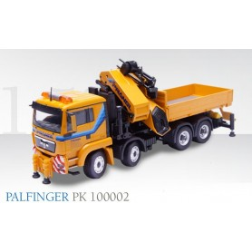 "Conrad 712140 MAN TGS L 4-axlig with extendable platform with PALFINGER PK100002 ""PRANGL"""