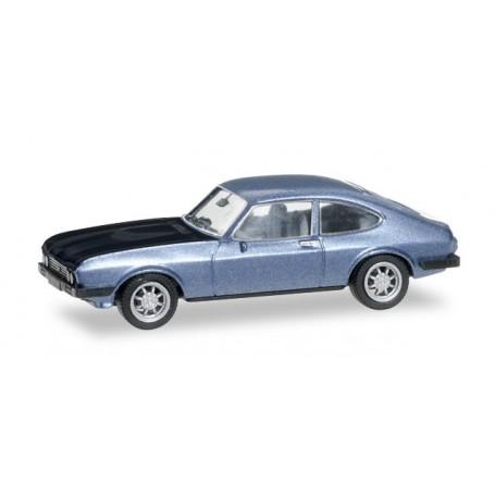 Herpa 038508 Ford Capri RS, ice blue metallic/black