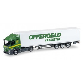 "Herpa 305068 Mercedes-Benz Actros Streamspace refrigerated box semitrailer ""Offergeld"""