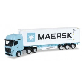 """Herpa 305242 Mercedes-Benz Actros Gigaspace 6x2 container semitrailer """"Maersk"""""""