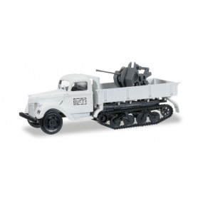 Herpa 745277 Ford Maultier V 3000 S/SSM Flak 20mm winter camouflage