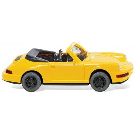 Wiking 16504 Porsche Carrera Cabriolet, yellow, 1989