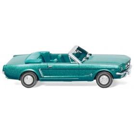 Wiking 20547 Ford Mustang Cabrio - turquoise green metallic, 1964