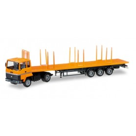 Herpa 305037 Ford Transconti stake trailer