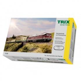 Trix 11139 Startset typ DR, med diesellok och 3 personvagnar