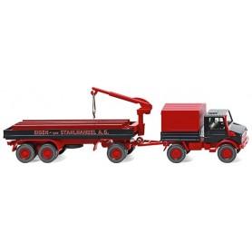 """Wiking 50203 Unimog U 1700 constr. trailer """"Eisen & Stahlhandel A.G."""""""