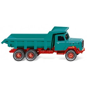 Wiking 67001 Tipper trailer (Mag. Saturn) water blue/red
