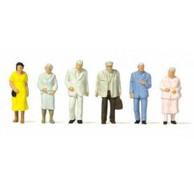 Preiser 14116 Äldre resenärer, 6 st