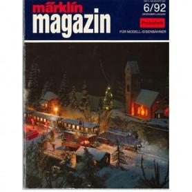 Media KAT344 Märklin Magazin 6/92 Tyska