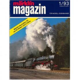 Media KAT345 Märklin Magazin 1/93 Tyska