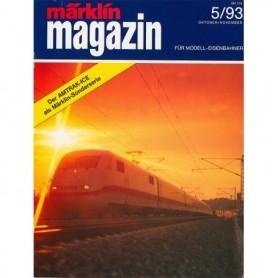 Media KAT349 Märklin Magazin 5/93 Tyska