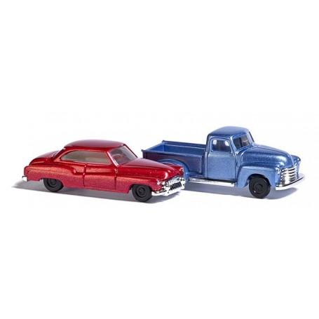 Busch 8349 Chervrolet Pick-up och Buick, set med 2 bilar
