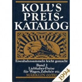Media BOK218 Kolls Värderingsbok för Märklin 1994, band 2