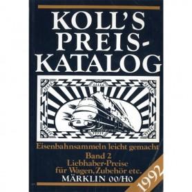 Media BOK219 Kolls Värderingsbok för Märklin 1992, band 2
