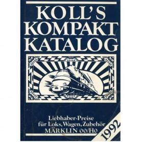 Media BOK220 Kolls Värderingsbok för Märklin 1992, pocket