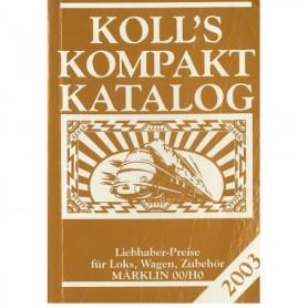 Media BOK223 Kolls Värderingsbok för Märklin 2003, pocket