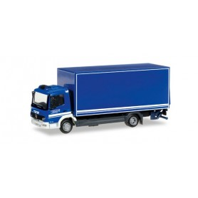 "Herpa 092234 Mercedes Benz Atego box trailer with liftgate ""THW Berlin"""