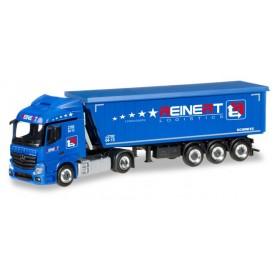 "Herpa 305488 Mercedes-Benz Actros Streamspace 2.3 Stöffelliner truck semitrailer ""Reinert"""