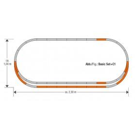 "Roco 61152 Utbyggnadsset ""GeoLine Track set C1"""