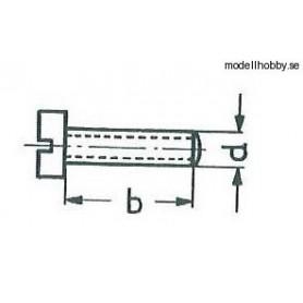 Märklin 750020 Cylinderskruv M2x4 mm, skalle 3,5 mm, blank