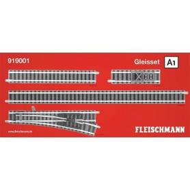 "Fleischmann 919001 Utbyggnadsset ""Piccolo Track set A1"""