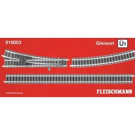 "Fleischmann 919003 Utbyggnadsset ""Piccolo Track set Ü1"""