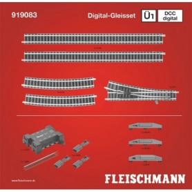 """Fleischmann 919083 Utbyggnadsset """"Piccolo Track set Ü1 DCC"""""""
