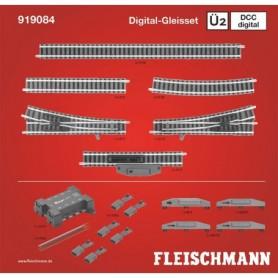 """Fleischmann 919084 Utbyggnadsset """"Piccolo Track set Ü2 DCC"""""""