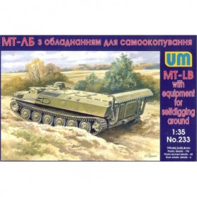 UM Unimodels 233 Tanks MT-LB with equipment for selfdigging around (Svensk modell)