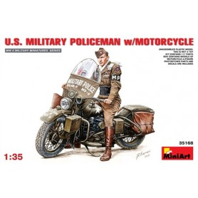 MiniArt 35168 U.S. Military Policeman with Motorcycle